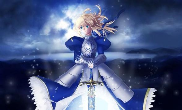 Fate Stay Night Saber  Wallpaper poster