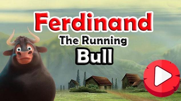 Ferdinand The Running Bull poster