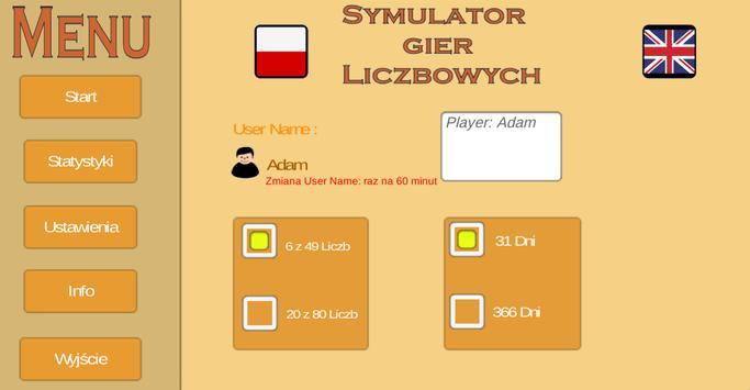 Symulator Gier Liczbowych poster