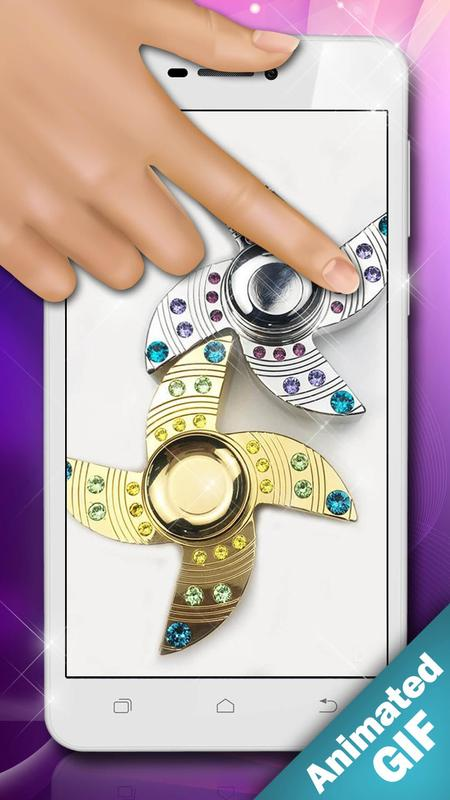 Fidget Spinner Wallpaper Animasi Gif Gambar Lucu For Android Apk