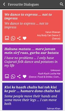 Dancing movie Filmy Dialogues poster
