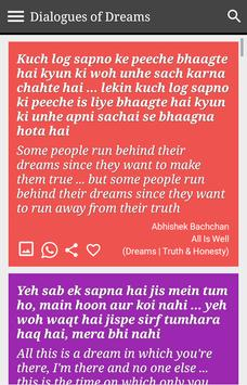 Dreams Status Filmy Dialogues screenshot 9