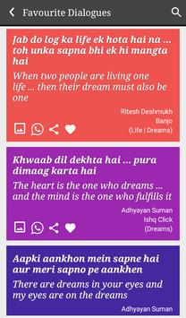 Dreams Status Filmy Dialogues screenshot 3