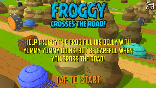 Froggy Road Crossing Free apk screenshot