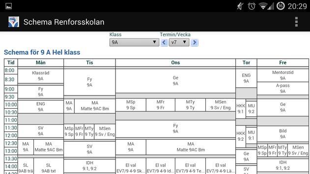 Scheman Renforsskolan apk screenshot