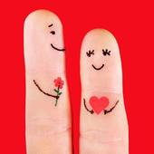 cut finger love art wallpaper icon