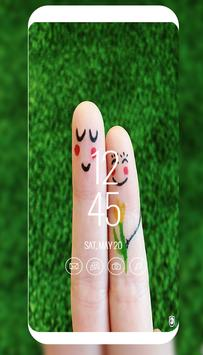 cut finger love art wallpaper poster