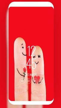 cut finger love art wallpaper screenshot 1