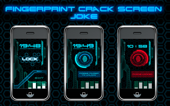Fingerprint Crack Screen Joke screenshot 4