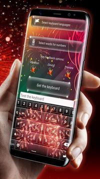 Fireworks Keyboard Wallpaper screenshot 1