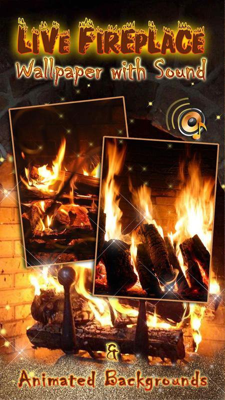 Live Fireplace Wallpaper with Sound 🔥 Animated poster ...