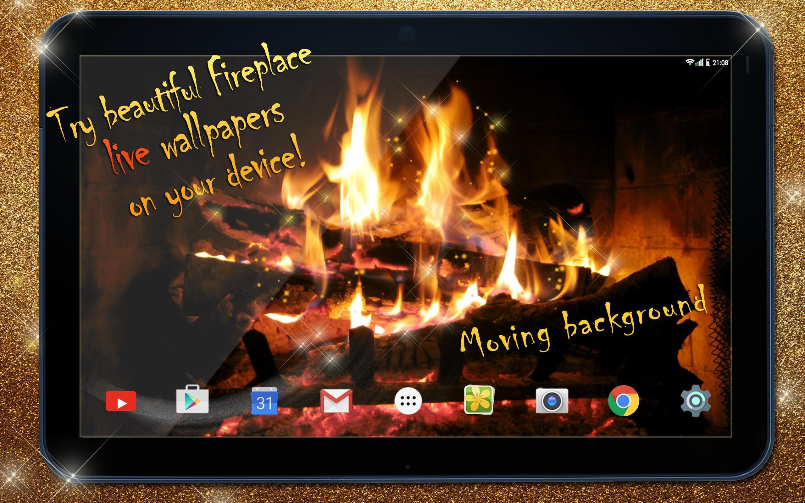 Live Fireplace Wallpaper with Sound 🔥 Animated for Android