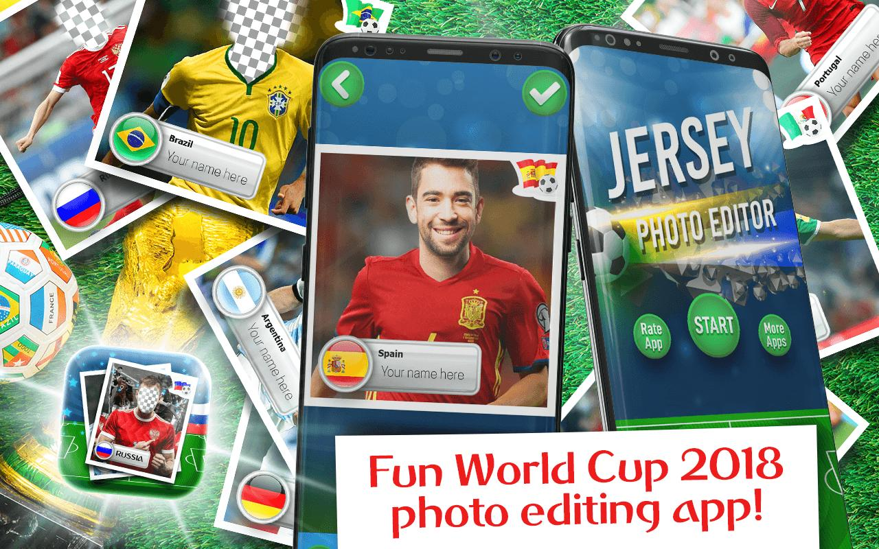 World Cup 2018 Photo Frames - Jersey Photo Editor for Android - APK ...