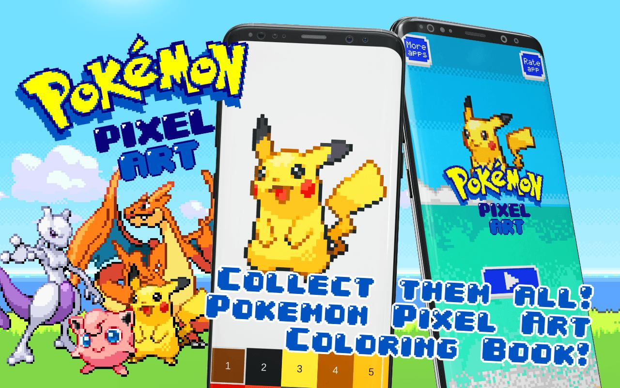 Pokemon Color By Number Pixel Art For Android Apk Download