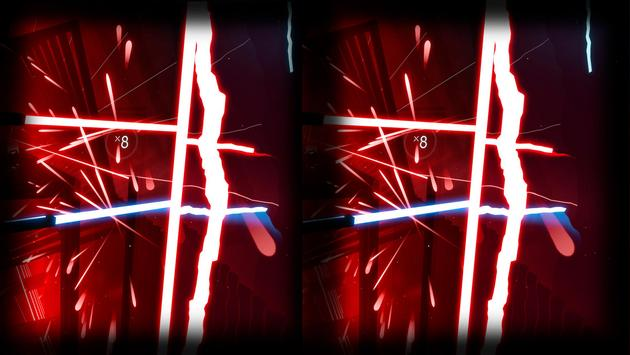 Beat Laser Saber Simulator VR screenshot 2