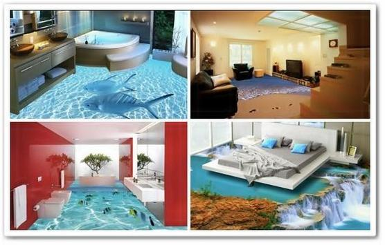 Flooring 3D Designs Ideas poster