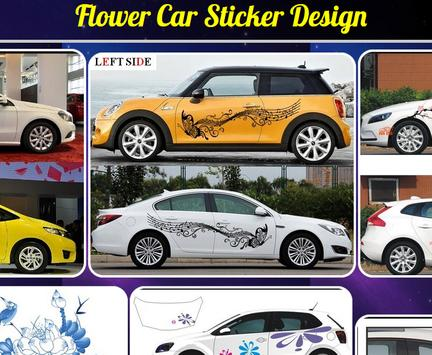 Flower Car Sticker Design poster