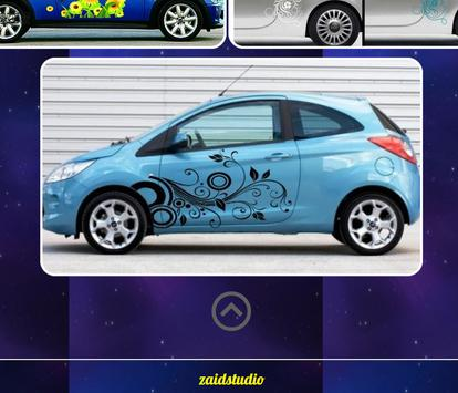 Flower Car Sticker Design screenshot 2