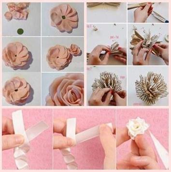DIY Flower Craft Tutorials apk screenshot