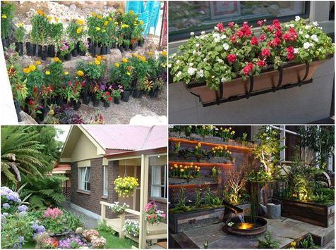 Flower Garden Planter Ideas poster