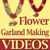Flower Garland Making Videos icon
