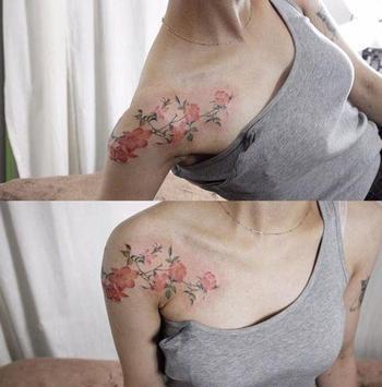 Flower Tatoo Design Ideas screenshot 1