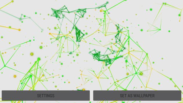 Flowing Particles 3D Live Wallpaper apk screenshot