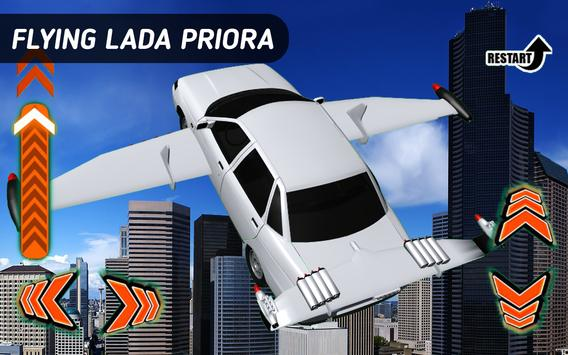 Flying Car Lada Priora poster