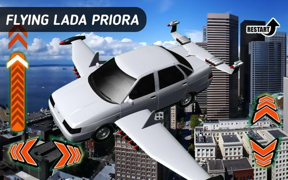 Flying Car Lada Priora apk screenshot
