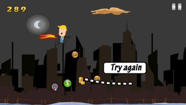 Flying Trump Free apk screenshot