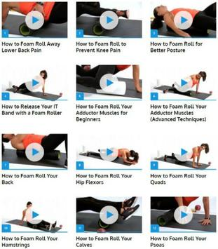 Foam Roller Exercices poster