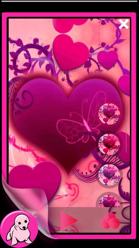 Cute Pink Wallpapers For Girls Poster Apk Screenshot