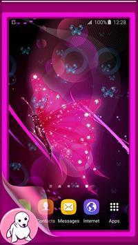Glitter Butterfly Wallpaper poster