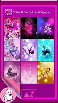 Glitter Butterfly Wallpaper screenshot 2