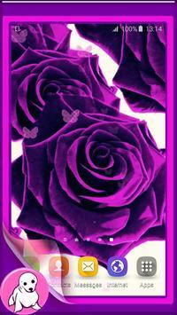 Purple Rose Live Wallpaper poster