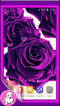 Purple Rose Live Wallpaper poster