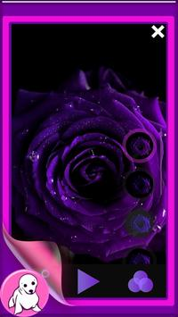 Purple Rose Live Wallpaper screenshot 1
