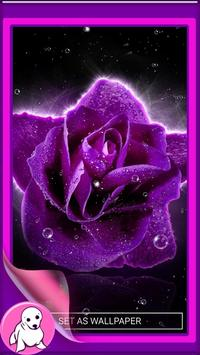 Purple Rose Live Wallpaper screenshot 3