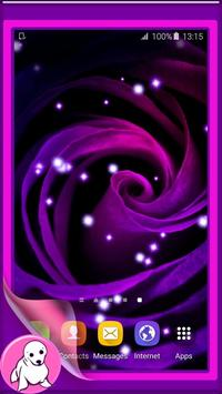 Purple Rose Live Wallpaper apk screenshot