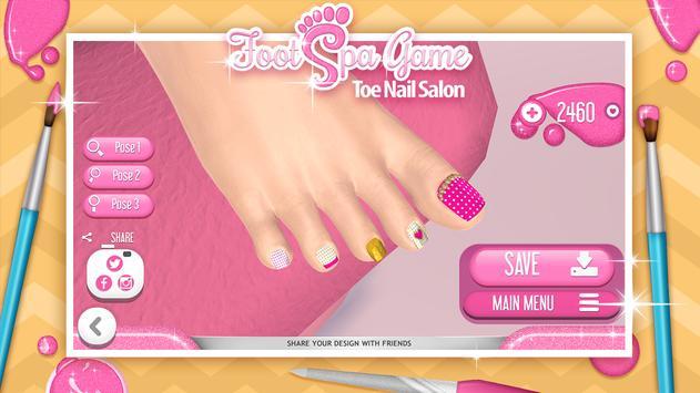Foot Spa Game – Toe Nail Salon poster