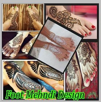 Foot Mehndi Design poster