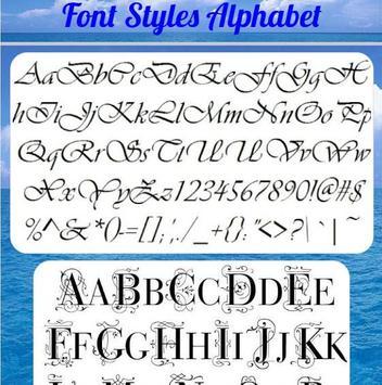 Font Styles Alphabet Apk Screenshot