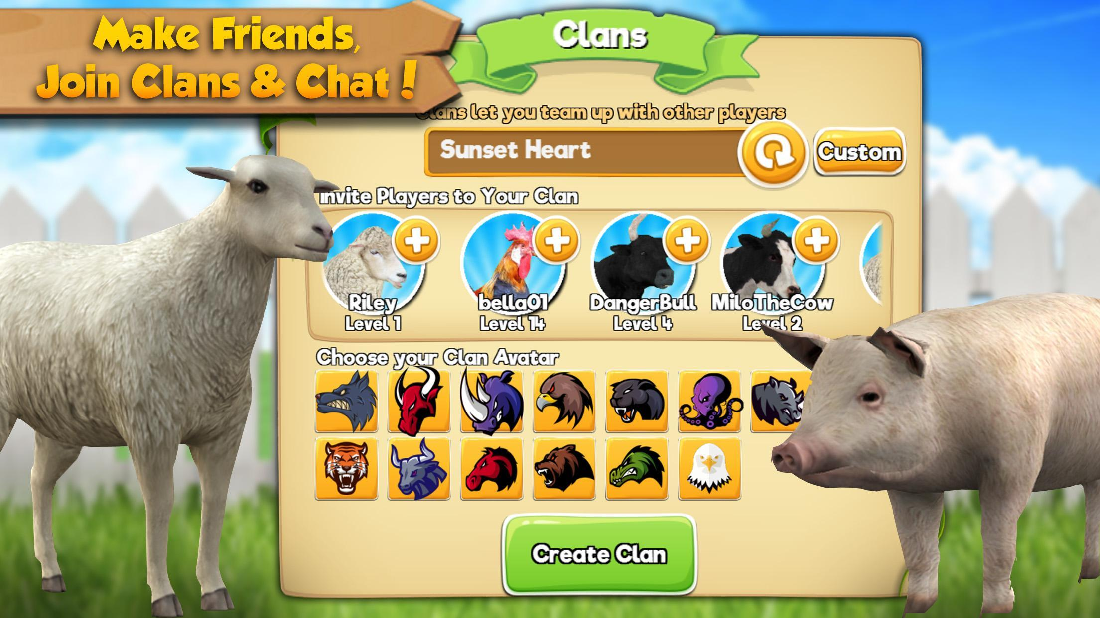 Farm Animal Family: Online Sim for Android - APK Download