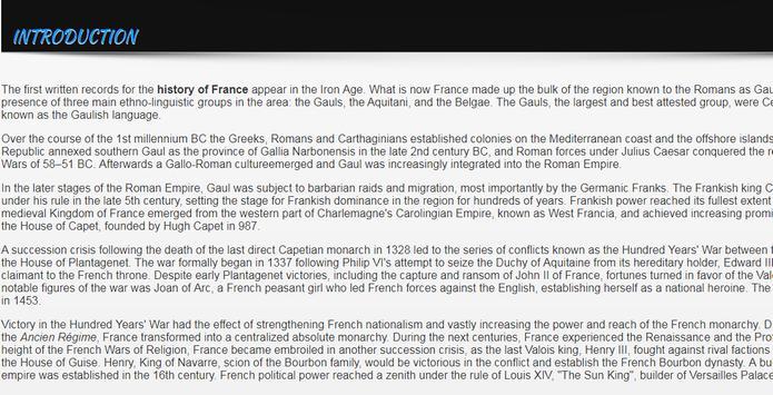 History of France screenshot 1