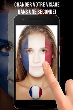 France Drapeau Visage Profile screenshot 1