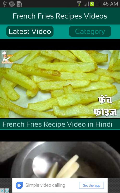 French fries recipes videos apk download free entertainment app french fries recipes videos poster french fries recipes videos apk screenshot forumfinder Image collections