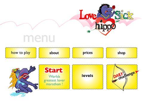 Lovesick Hippo crazy animals poster