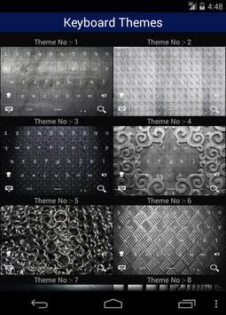 Metal Keyboard Themes screenshot 4