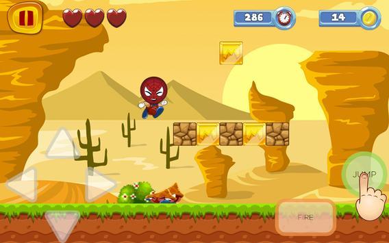 Super SPider World Sandy Man Free Game apk screenshot