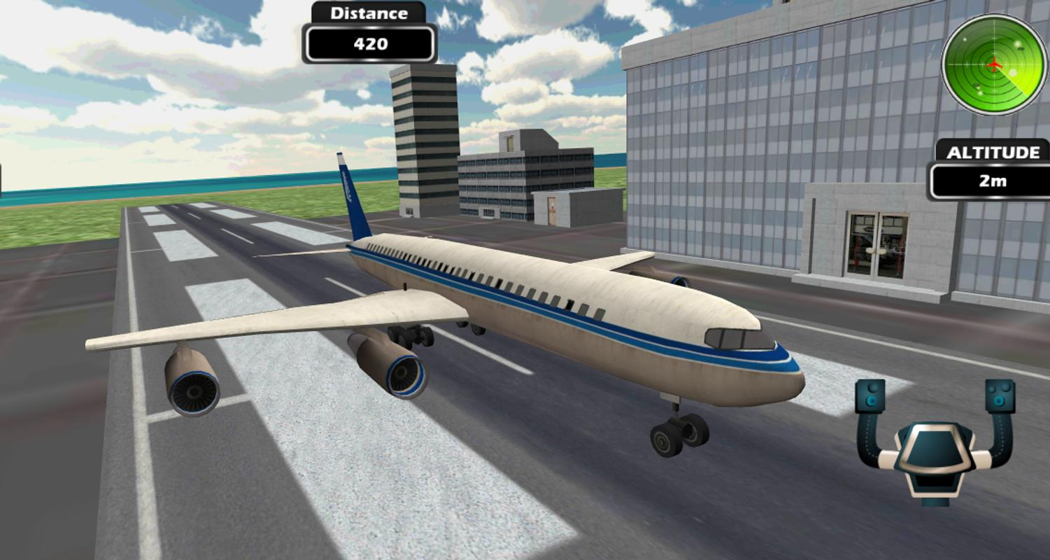 Plane pro flight simulator 3d for android apk download for Simulatore 3d